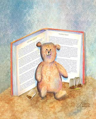 Tea Bag Teddy Art Print by Arline Wagner