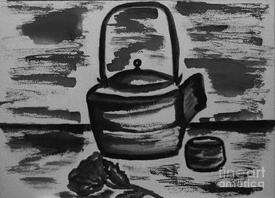 Teapot Painting - Tea For Me by Marsha Heiken