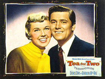 Tea For Two, From Left Doris Day Art Print