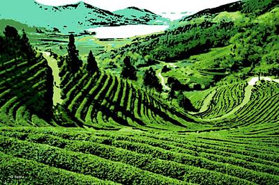 Photograph - Tea Garden by George Pedro