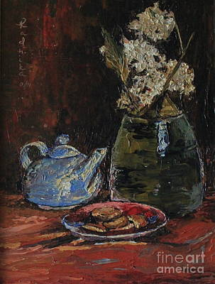 Knifework Painting - Tea Party by Radhika Bawa