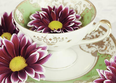 Cup Photograph - Tea Petals by Kim Fearheiley