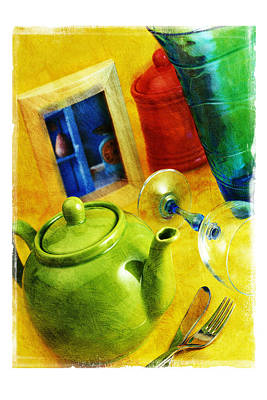 Tea Pot Art Print by Mauro Celotti