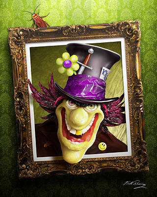 Mad Hatter Digital Art - Tea Time For The Twisted by Bill Fleming
