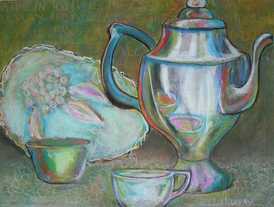 Drawing - Tea Time by Jessica J Murray