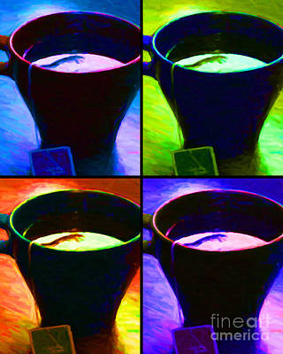 Java Tea Photograph - Tea Time Quiet Time - Four by Wingsdomain Art and Photography