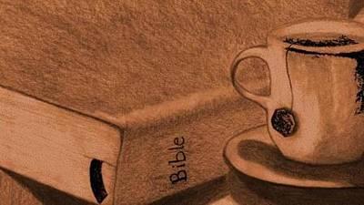 Tea With Jesus Art Print by Shannon Redmon