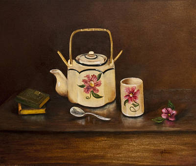 Tea With Mom And Grandma Art Print by Gina Cordova
