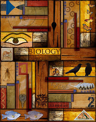 Collage Photograph - Teacher - Biology by Carol Leigh