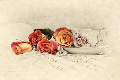 Photograph - Teacup And Roses by Cheryl Davis