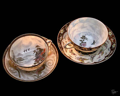 Photograph - Teacups by Endre Balogh