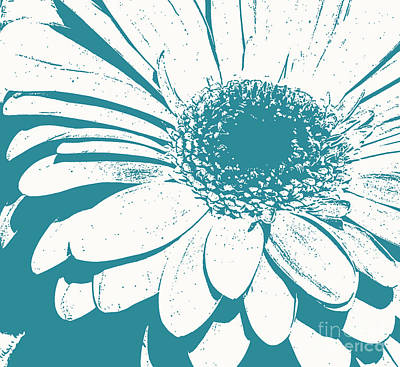 Photograph - Teal Decorator Gerbera by Jim and Emily Bush