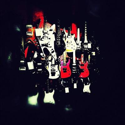 Guitar Wall Art - Photograph - #teamlowry #instagramhub #instagram by Asaf S