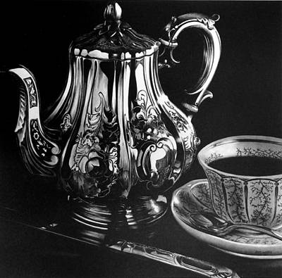 Teapot Drawing - Teapot by Jerry Winick