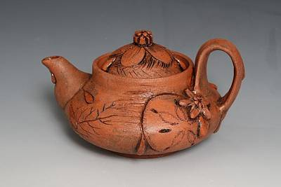 Wheelthrown Ceramic Art - Tear Water Teapot by Patty Sheppard