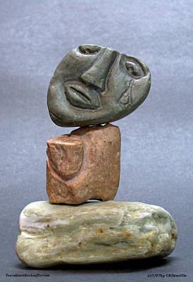 Tears Heart Rock Sorrow Original by Carl Deaville