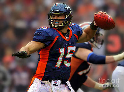 Tim Tebow Photograph - Tebow At Denver Broncos by Herb Paynter