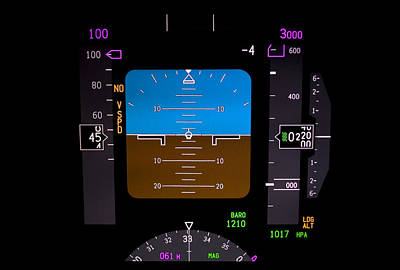 Cockpit Photograph - Technology. Airplane Instrument Panel. by Fernando Barozza