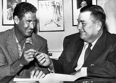 Ted Williams, And Tom Yawkey, Owner Print by Everett