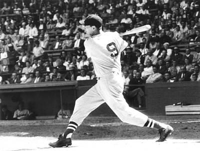Baseball Uniform Photograph - Ted Williams, Ca. 1957 by Everett