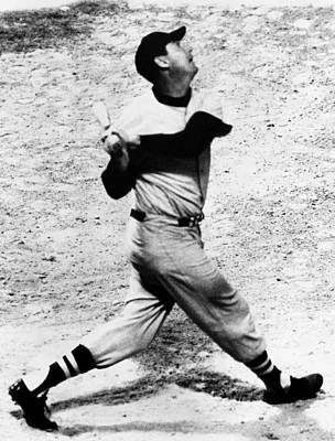 Baseball Uniform Photograph - Ted Williams Of The Boston Red Sox, Aug by Everett