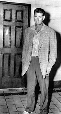 Ted Williams Outside A Miami Court Room Print by Everett