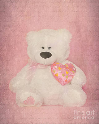 Fuzzy Digital Art - Teddy Bear by Betty LaRue