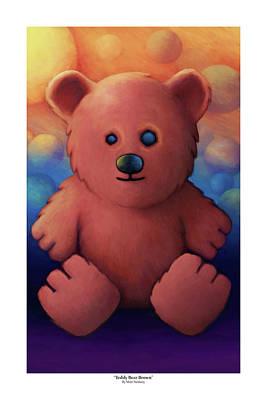 Fuzzy Digital Art - Teddy Bear Brown by Matt Nesbary