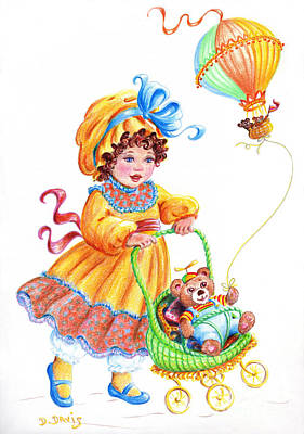 Teddy Bears And Me In The Children's Parade Art Print