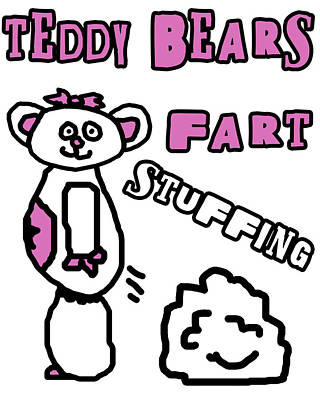 Adorable Digital Art - Teddy Bears Fart Stuffing 2 by Jera Sky