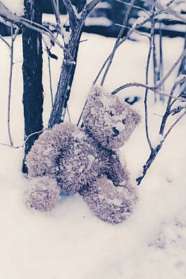 Teddy In Snow Art Print by Joana Kruse
