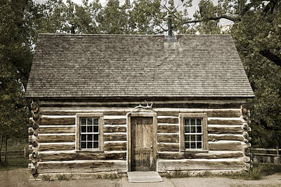 Photograph - Teddy Roosevelt's Maltese Cross Log Cabin Retro Style by John Stephens