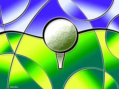 Putt-putt Digital Art - Tee It Up by Stephen Younts