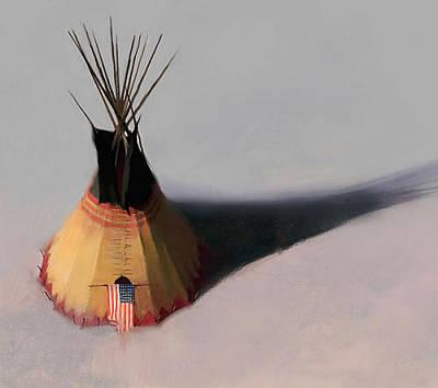 Tebow Digital Art - Teebow Tipi by R Tom Gilleon
