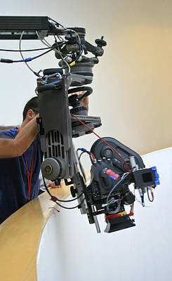 Film Maker Photograph - Teeing Up A Shoot by Kantilal Patel