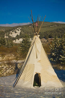 Teepee In The Snow 2 Art Print