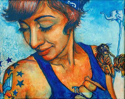 Tegan Tattoos Art Print by Emily Lounsbury