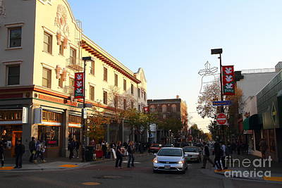 College Avenue Photograph - Telegraph Avenue At Bancroft Way In Berkeley California  . 7d10173 by Wingsdomain Art and Photography