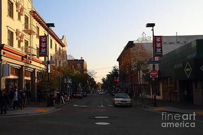 College Avenue Photograph - Telegraph Avenue At Bancroft Way In Berkeley California  . 7d10174 by Wingsdomain Art and Photography