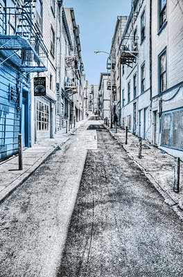 Hills Digital Art - Telegraph Hill Blue by Scott Norris