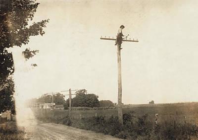 Telegraph Lineman, Kentucky, Photograph Art Print by Everett