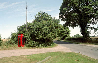 Old Country Roads Photograph - Telephone Box by Victor De Schwanberg