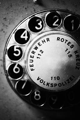 Telephone Dial Art Print by Falko Follert