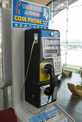 Telephone In Airport Lounge Art Print by Mark Williamson
