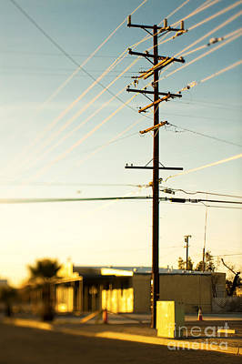 Telephone Poles Photograph - Telephone Pole And Power Lines by Eddy Joaquim