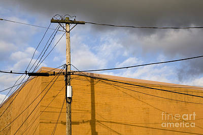 Telephone Poles Photograph - Telephone Pole And Wires by Paul Edmondson
