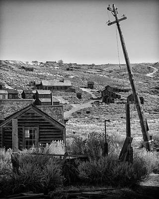Telephone Poles Photograph - Telephone Pole Bodie Ca by Troy Montemayor