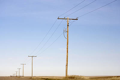 Telephone Poles Photograph - Telephone Poles Along Rural Route by Pete Ryan