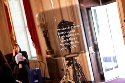 Teleprompter Set Up For President Art Print by Everett