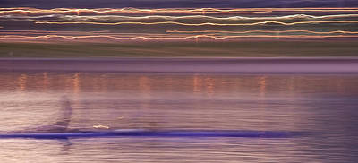 Photograph - Tempe Town Lake Rowers Abstract 3 by Dave Dilli